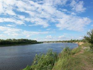 Река Березина возле санатория