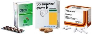 Лечение гепатопротекторами