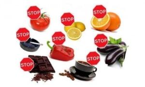 Список запрещенных продуктов